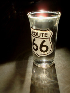 ROUTE 66 SHOTGLASS I couldn't afford the tour of the Meramac Caverns when I was there, but I just had to have the shot glass. Pretty cool, huh?