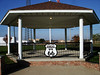ROUTE 66 BANDSTAND<br /> Galena, Kansas<br /> <br /> At first I called this a gazebo, but there are no benches or chairs for one to relax in. It looks more like a park bandstand to me.