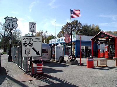 SHEA'S ROUTE 66 GAS STATION MUSEUM Springfield, Illinois  Now this is what I call a Route 66 museum. The owner, Bill Shea, has been a Texaco dealer since back in the 50s and he's very proud of it. For anyone who loves to prowl around old places and gawk at old stuff, this the place for you.