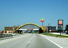 "McDONALD'S GLASS HOUSE RESTAURANT<br /> Will Rogers Turnpike (I-44), near Vinita, Oklahoma<br /> <br /> ThIs building was originally built when the turnpike opened in 1957 as one of the ""Glass House"" restaurants, owned by the now-defunct Interstate Hosts company, and also operated as a Howard Johnson's restaurant at one point. Because of this heritage, it is also known as the Glass House McDonald's. It looks a whole lot like the Rainbow Bridge, doesn't it?"