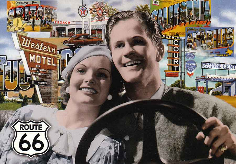 FUN TIMES ON ROUTE 66!<br /> Route 66 Postcard
