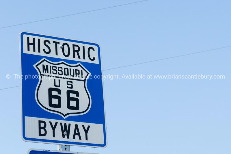 Missouri sign, Historic Route 66, MO USA.