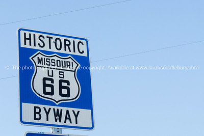 Missouri sign, Historic Route 66, MO USA.