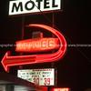 Another illuminated retro style motel sign  Route 66, Arizona, USA