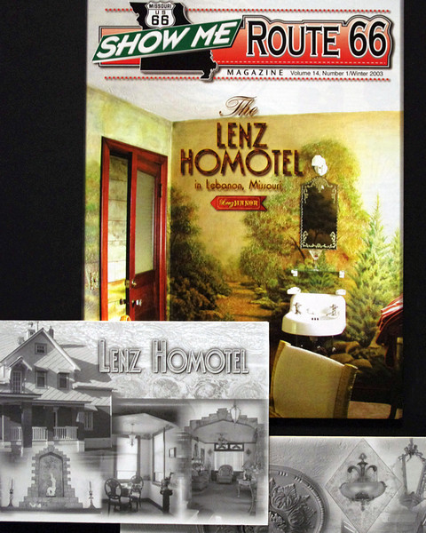 Homotel display, Display, Route 66 Museum, Lebanon, Missouri.