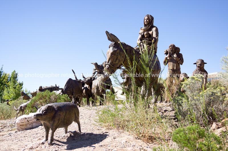 Sculpture in garden  Albuquerque Museum of Art and History, Albuquerque, New Mexico Albuquerque, New Mexico, USA.