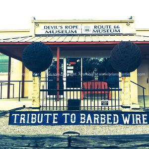 smartphone, Devil's Rope Museum, Mclean, Texas, USA.