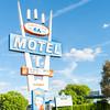 Stage Coach Motel sign, Route 66, Seligman, Arizona, USA