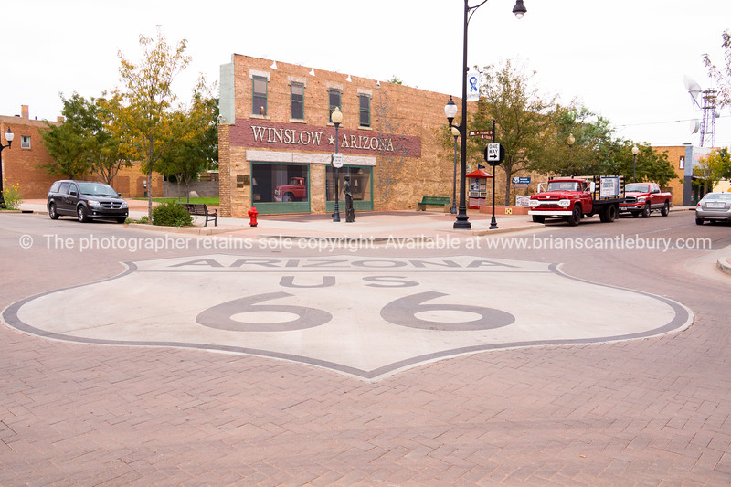 Winslow Arizon on Historic Route 66.
