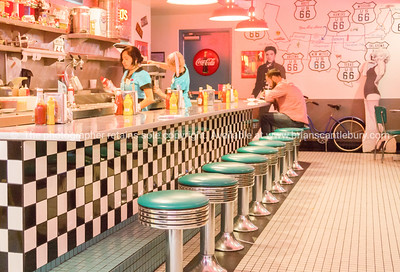 50's style Diner on Historic Route 66, Albuquerque, New Mexico, USA.