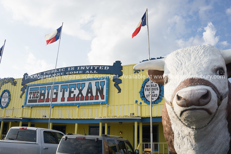 The Big Texan Steak Ranch, famous restaurant Amarillo, Texas, USA