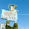 El Don Motel sign, Albuquerque, New Mexico, USA.