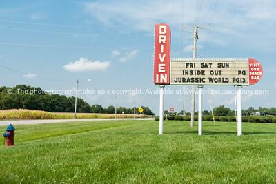 Litchfield Drive-in movie theatre, Illinois, USA.