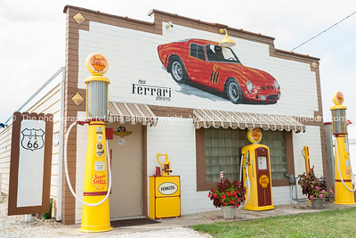 Restored Shell garage, Dwight, Illinois.
