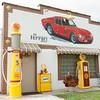 Restored Shell garage, Dwight, Illinois.