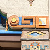 Architectural detail, Kimo Theater, Albuquerque, New Mexico, USA. KiMo Theatre, a Pueblo Deco picture palace, was opened on September 19, 1927