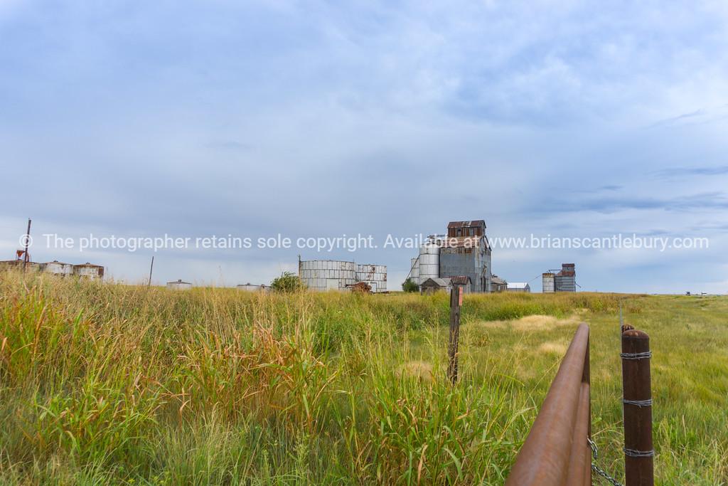 Boydston grain elevators near Groom, Texas, USA.