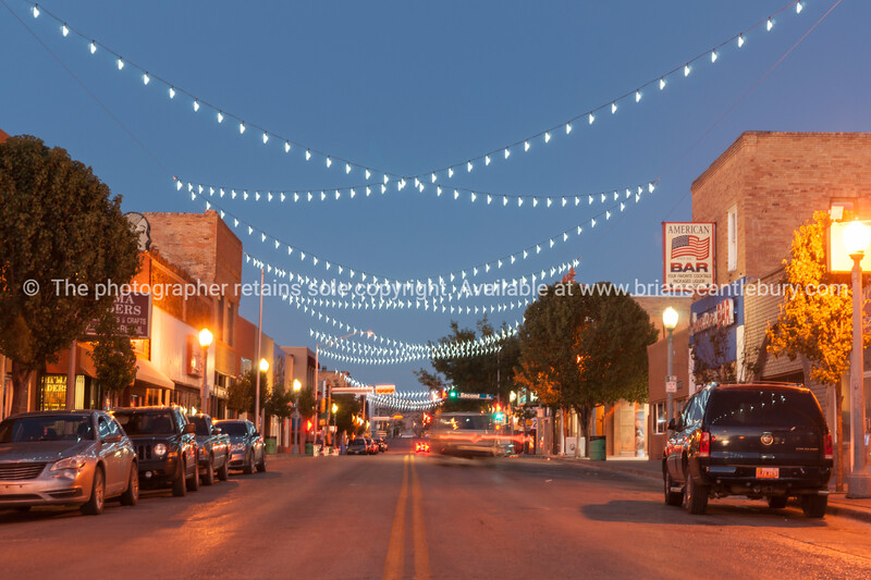 Buildings and street scenes, Gallup, Historic Route 66, New Mexico, USA.