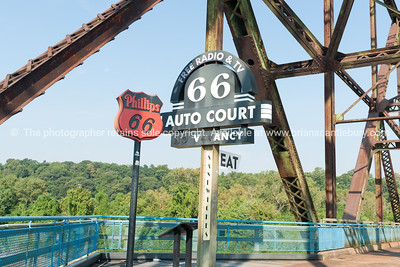 St Louis, architecture, and famous Chain of Rocks Bridge Missouri,USA.
