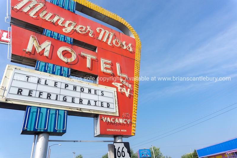 Retro signs Lebonon on Route 66, MO USA
