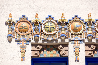 Kimo Theater, Albuquerque, New Mexico, USA. KiMo Theatre, a Pueblo Deco picture palace, was opened on September 19, 1927