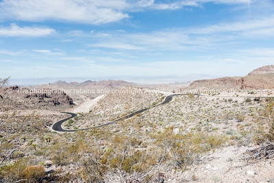 Mojave desert scenery Sitgreaves Pass on Route 66, Arizona, USA