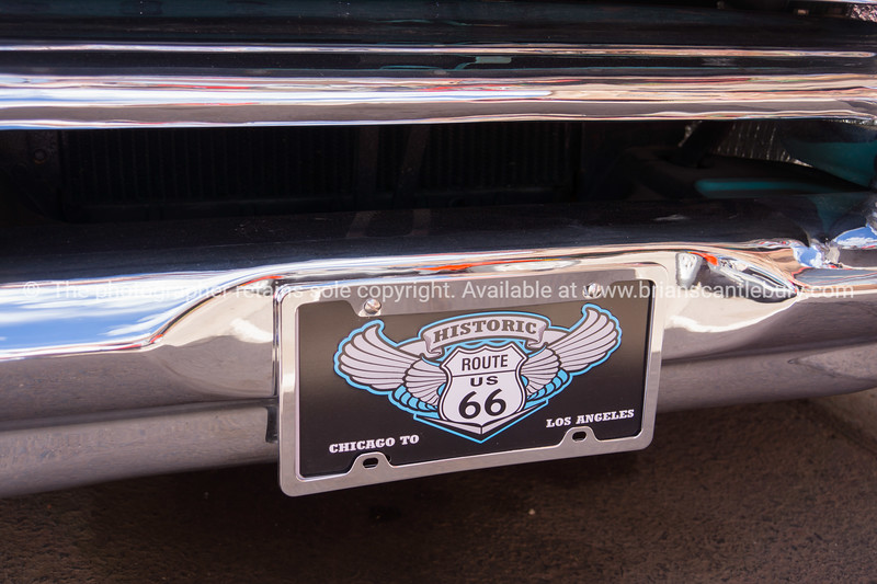 Historic Route 66 car plate.