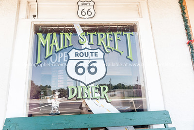 Main Street Diner window and reflection   Chelsea, Oklahoma on Route 66.-2.dng