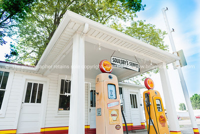 Mount Olive Soulsby's restored Shell garage Illinois, USA.