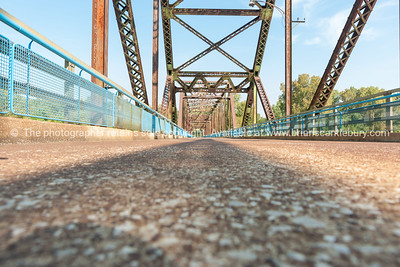 St Louis, architecture, and famous Chain of Rocks Bridge Missouri,USA.