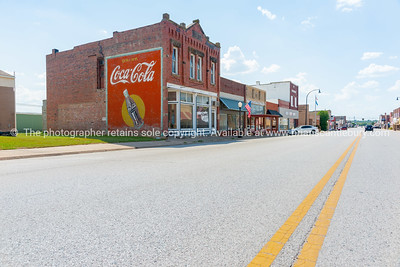 Brick buidlings,signs and street scenes Stroud, Oklahoma on Route 66