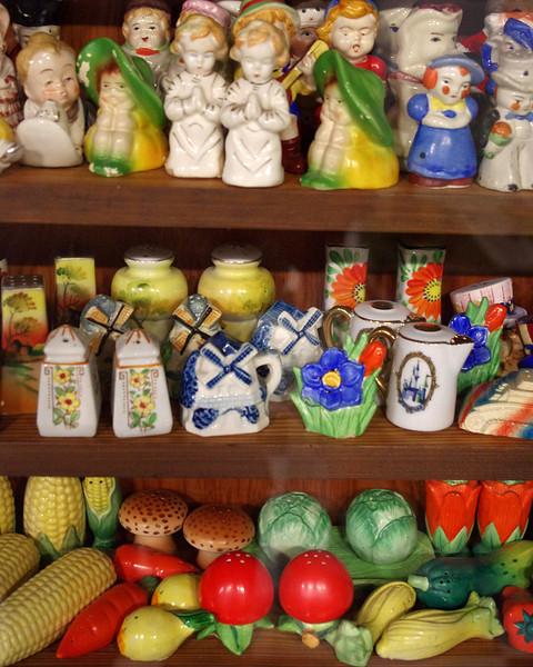 Salt and pepper shaker display, Route 66 Museum, Lebanon, Missouri.