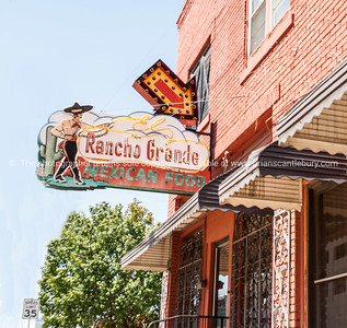 El Rancho Grande Mexican Food Restaurant, buidlings and street scenes Tulsa, Oklahoma on Route 66.