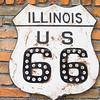 Route 66 wall signs Atlanta, Illinois, USA, Route 66.