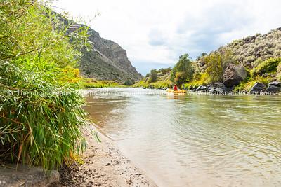 Rio Grande river and landscape, New Mexico, USA.