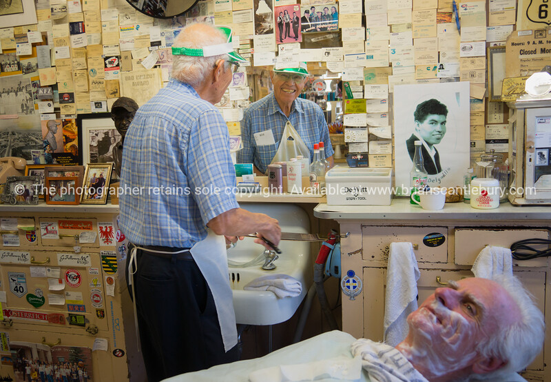 Inside Angel  Delgadillo's Barber shop on Route 66 Gift Shop, Route 66, Seligman, Arizona, USA