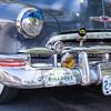 Vintage American cars in Plaza Albuquerque, New Mexico, USA.