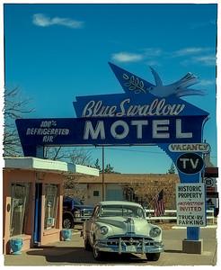Blue Swallow Motel on Route 66 in Tucumcari, NM