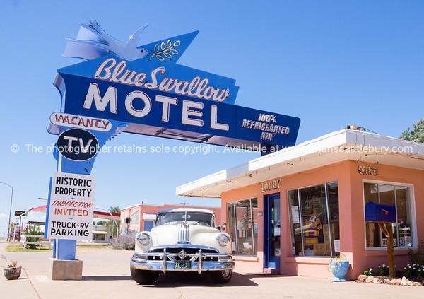 Blue Swallow Motel, Tucumcari, Route 66, New Mexico, USA.