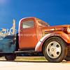 Restored Chevrolet tow truck at U Drop Inn, Shamrock, Texas, USA.
