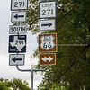 Multi directional raod sign, Texas