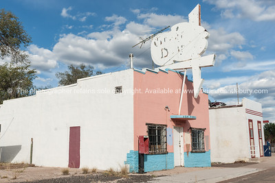 Old buildings and restored, Ash Fork, Arizona on Route 66.