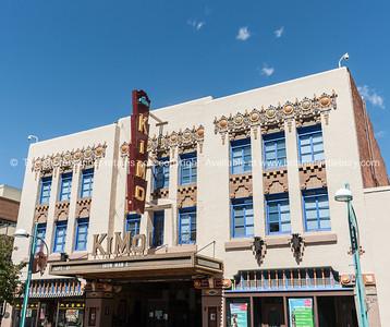 Kimo Theater, Albuquerque, New Mexico, USA. KiMo Theatre, a Pueblo Deco picture palace, was opened on September 19, 1927