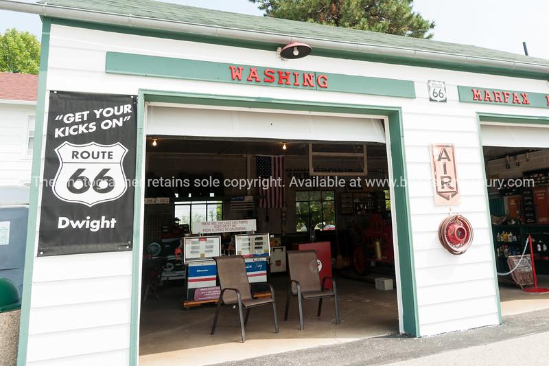 Texaco garage restored at Dwight, Illinois, USA.dng