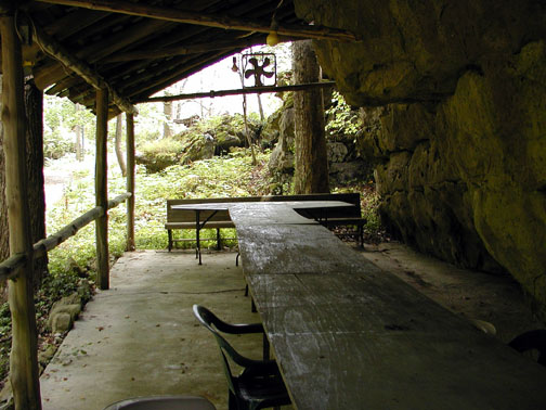 Inside the picnic shelter at Savage Garden<br /> Caryville TN<br /> 4/28/07