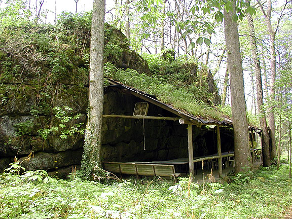 Picnic Shelter at Savage Garden<br /> Caryville TN<br /> 4/28/07
