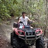 Jared on the ATV on the ride. We are hunting for Meadow Branch Twin Falls at this point. <br /> Royal Blue WMA TN 2008