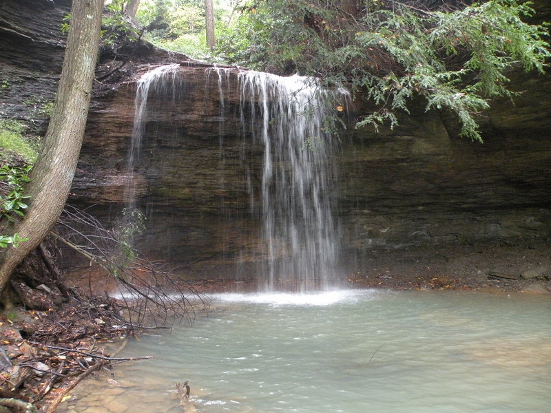 Flatwoods Falls is about a 40 ft drop