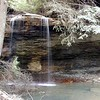 50 ft high Flatwoods Falls didn't have alot of water coming over it today.<br /> Still beautiful and cool spot to visit.