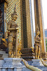 Ancient guards at temple of Emerald Buddha